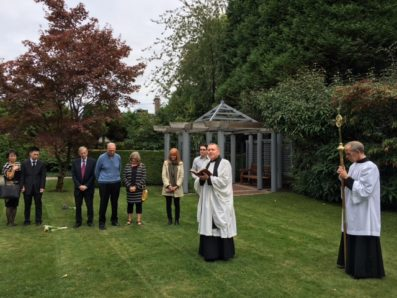 Prayers in the Memorial Garden